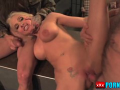 DP & rough sex for this busty blonde babe.
