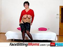 Big tits lady Greta stockings and facesitting