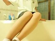 Korean beautiful girl Masturbation in bathroom Korean BJ 2014110701