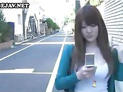 Japanese babe is horny and she sucks and fucks this older guy