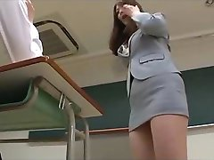Asian Mature Teacher Keeps Her Favorite Student After Class