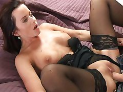 MOM Horny brunette loves getting dirty