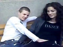 Fingering her in public