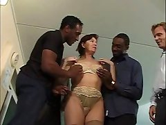 Squirting British Mature Interracial Gangbang