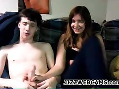 Amateur Couple Talking On Webcam