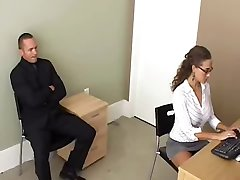 Secretary tricks a businessman