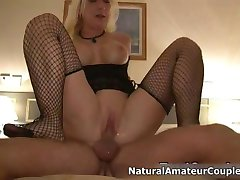 Horny mature whore going crazy riding