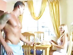 Stunning Blonde fuck muscle neighbor