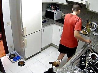 Lesbian kitchen play