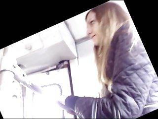 Masturbator looks at her legs, she looks at dick