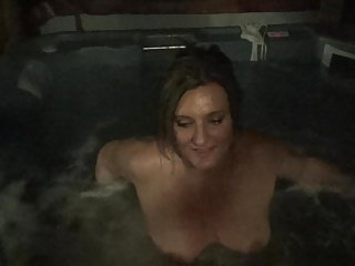 Sam Plays in the Hot Tub