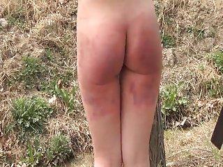 Spanking outside