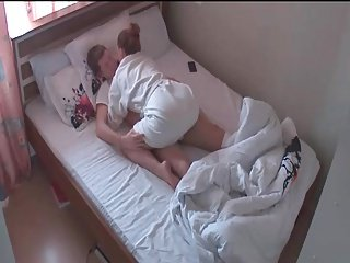 riding his cock in bathrobe