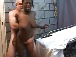 Older white guy fucks young black girl !!!