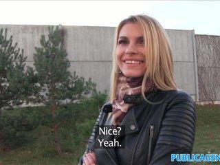 PublicAgent Tall blonde fucks for money