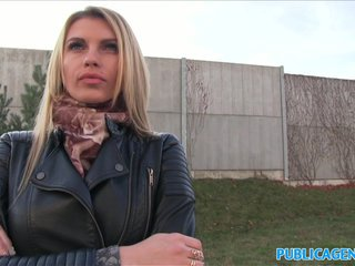 PublicAgent Tall blonde fucks for money