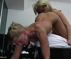 Home taboo story with sexy old and young lesbians