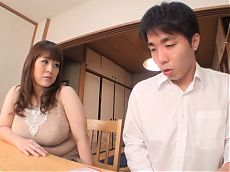 Japanese Mature titty fucks a dude