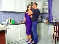young german couple fuck in the kitchen