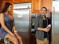 Mackenzee Pierce enjoys some naughty banging in the kitchen