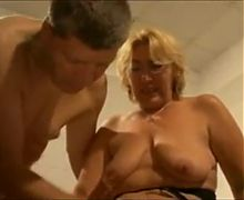 Beautiful blonde and horny grandma
