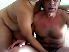 Chubby Indian fucks an old Guy